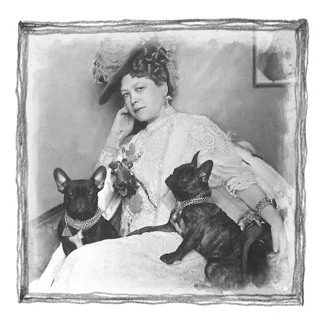 Vintage photograph - Lady with dogs