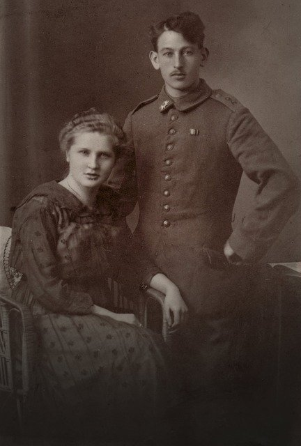 Vintage photograph of man and woman